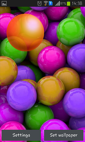 Download Colorful balls - livewallpaper for Android. Colorful balls apk - free download.