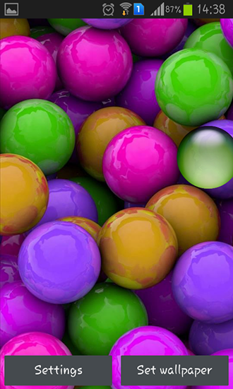 Screenshots of the Colorful balls for Android tablet, phone.