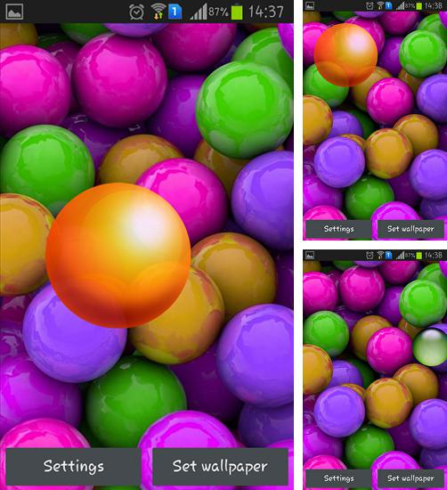 In addition to live wallpaper Dinosaurs by Dream World HD Live Wallpapers for Android phones and tablets, you can also download Colorful balls for free.