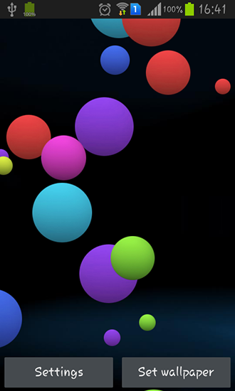 Colorful Bubble Live Wallpaper For Android Free