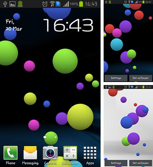 In addition to live wallpaper Parrots HD for Android phones and tablets, you can also download Colorful bubble for free.