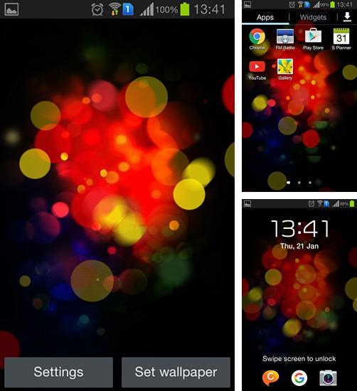 In addition to live wallpaper New Year by Jango LWP Studio for Android phones and tablets, you can also download Colorful neon for free.