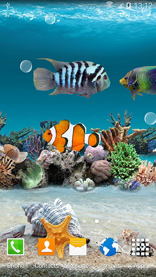 Screenshots of the Coral fish 3D for Android tablet, phone.