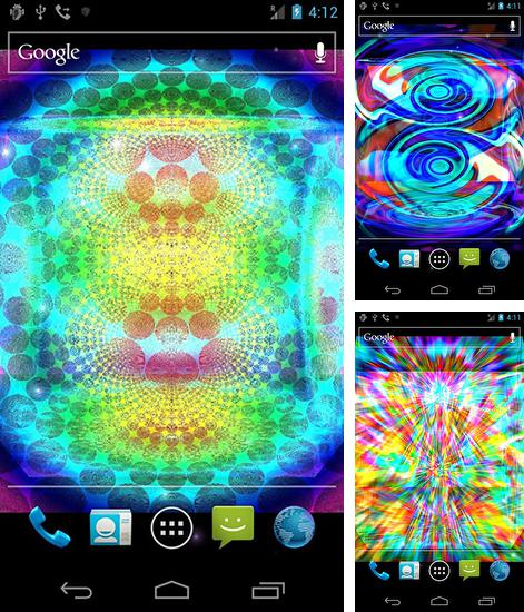 In addition to live wallpaper Launcher 3D for Android phones and tablets, you can also download Crazy trippy for free.