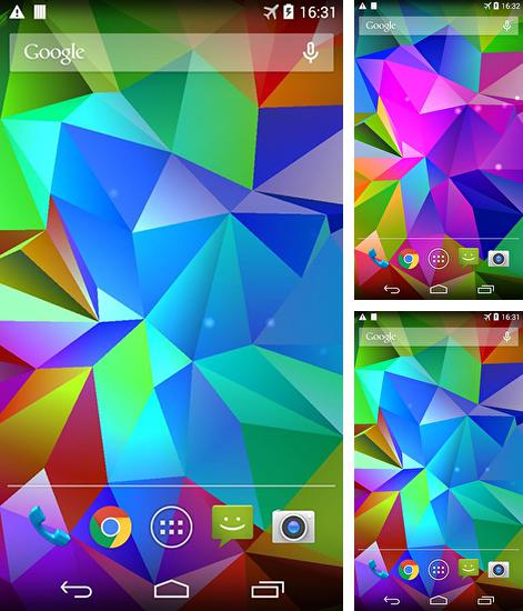 In addition to live wallpaper Circles for Android phones and tablets, you can also download Crystal 3D for free.