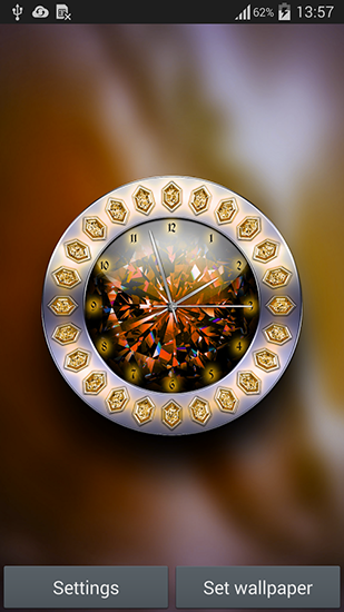 Screenshots of the Crystal clock for Android tablet, phone.