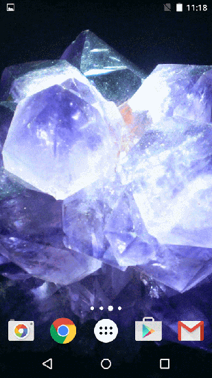 Screenshots von Crystals by Fun live wallpapers für Android-Tablet, Smartphone.