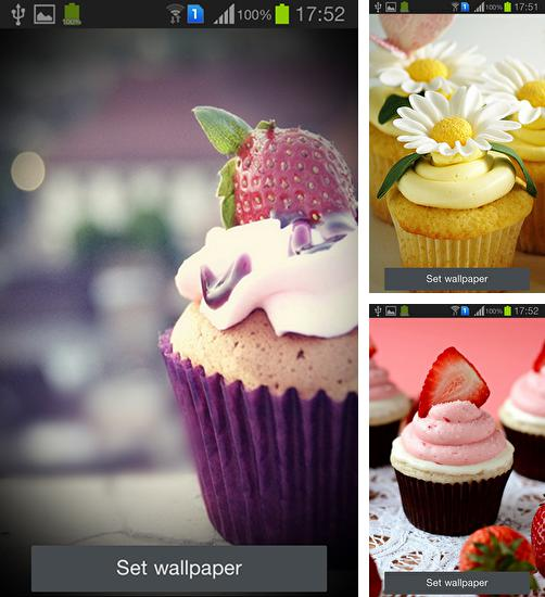 In addition to live wallpaper Yang the cat for Android phones and tablets, you can also download Cupcakes for free.