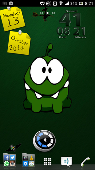 Kostenloses Android-Live Wallpaper Cut the Rope. Vollversion der Android-apk-App Cut the rope für Tablets und Telefone.