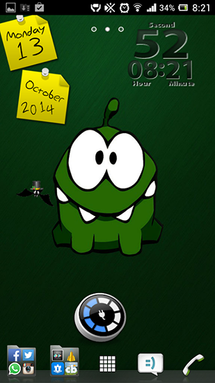 Screenshots of the Cut the rope for Android tablet, phone.