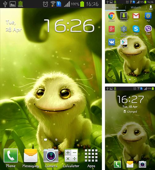 In addition to live wallpaper Pixel rain for Android phones and tablets, you can also download Cute alien for free.