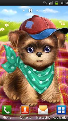 Download livewallpaper Cute and sweet puppy: Dress him up for Android. Get full version of Android apk livewallpaper Cute and sweet puppy: Dress him up for tablet and phone.