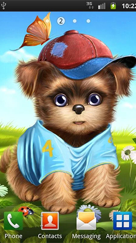 Screenshots of the Cute and sweet puppy: Dress him up for Android tablet, phone.