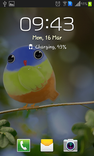 Screenshots of the Cute bird for Android tablet, phone.