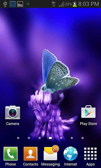 Cute butterfly by Daksh apps live wallpaper for Android