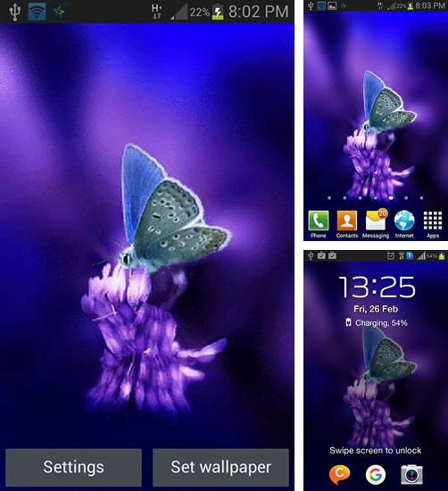 In addition to live wallpaper Spring Sakura Trees for Android phones and tablets, you can also download Cute butterfly by Daksh apps for free.