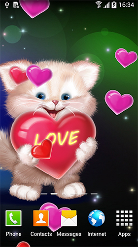 Cute Cat By Live Wallpapers 3d Fur Android Kostenlos Herunterladen