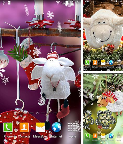 In addition to live wallpaper Neon fish for Android phones and tablets, you can also download Cute Christmas for free.