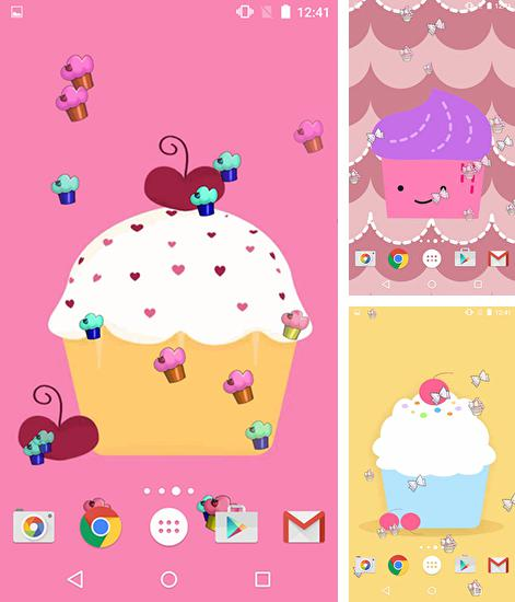 In addition to live wallpaper Mantaray for Android phones and tablets, you can also download Cute cupcakes for free.