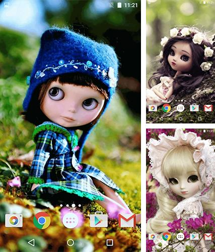 Download live wallpaper Cute dolls for Android. Get full version of Android apk livewallpaper Cute dolls for tablet and phone.