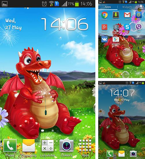 In addition to live wallpaper Galaxy flowers for Android phones and tablets, you can also download Cute dragon for free.