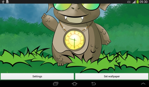 Screenshots von Cute dragon: Clock für Android-Tablet, Smartphone.