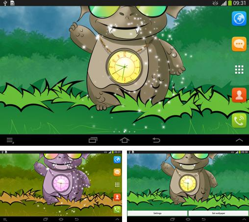 In addition to live wallpaper Puppy for Android phones and tablets, you can also download Cute dragon: Clock for free.