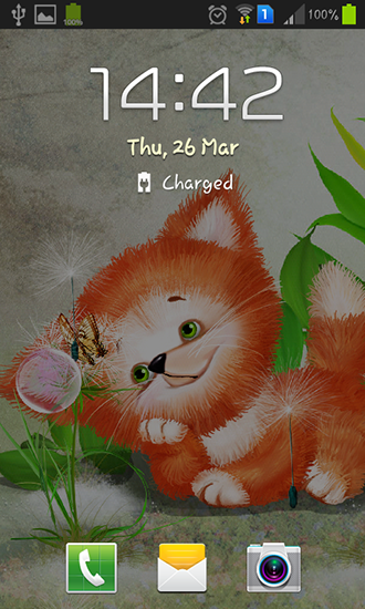 Screenshots of the Cute foxy for Android tablet, phone.