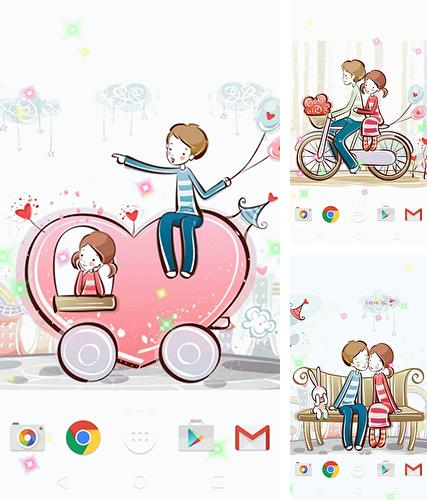 Download live wallpaper Cute lovers for Android. Get full version of Android apk livewallpaper Cute lovers for tablet and phone.