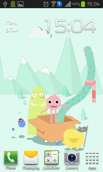 Cute monsters für Android spielen. Live Wallpaper Niedliche Monster kostenloser Download.
