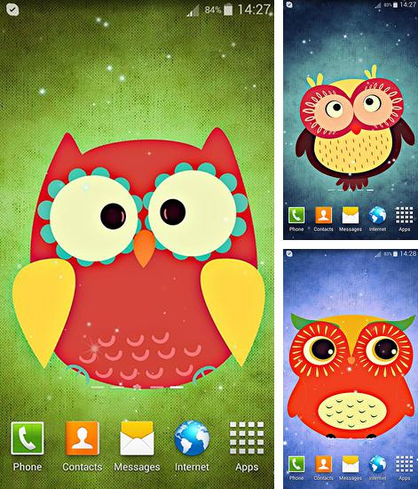 In addition to live wallpaper Christmas party for Android phones and tablets, you can also download Cute owl for free.