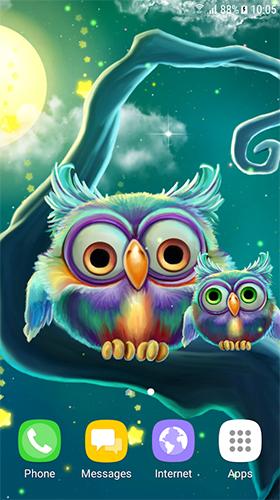 Cute Owls Für Android Kostenlos Herunterladen Live Wallpaper Süße