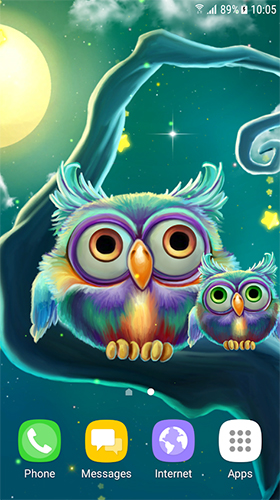 Download livewallpaper Cute owls for Android. Get full version of Android apk livewallpaper Cute owls for tablet and phone.