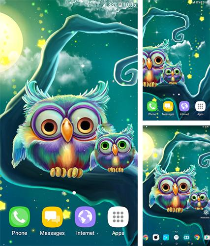Download live wallpaper Cute owls for Android. Get full version of Android apk livewallpaper Cute owls for tablet and phone.