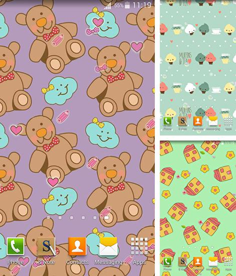 In addition to live wallpaper Zen stones 3D for Android phones and tablets, you can also download Cute patterns for free.