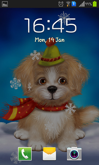 Screenshots of the Cute puppy for Android tablet, phone.