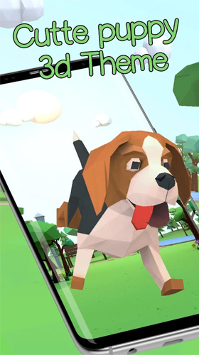 Screenshots of the Cute puppy 3D for Android tablet, phone.