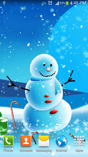 Screenshots von Cute snowman für Android-Tablet, Smartphone.