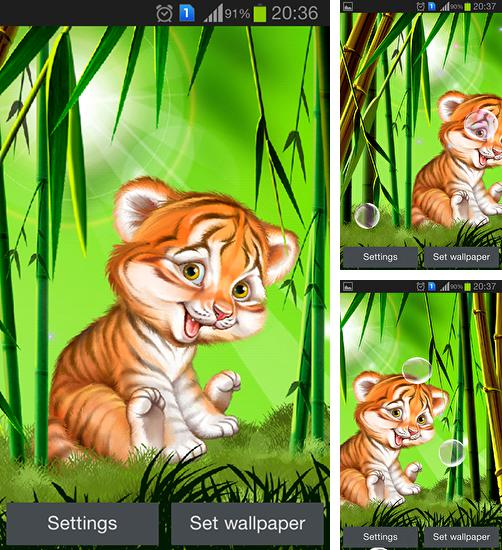 In addition to Cute tiger cub live wallpapers for Android, you can download other free Android live wallpapers for TurboKids Princess NEW.