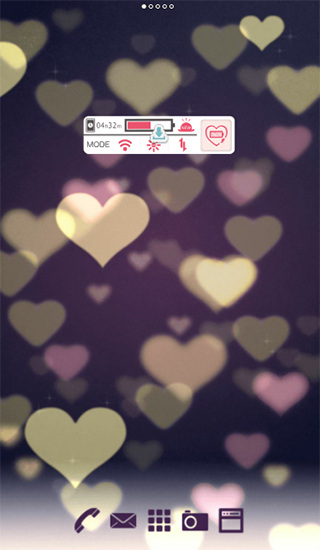 Screenshots von Cute wallpaper. Bokeh hearts für Android-Tablet, Smartphone.