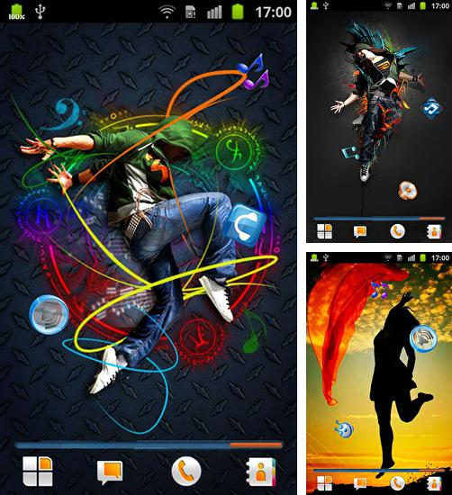 In addition to live wallpaper Pyramids 3D for Android phones and tablets, you can also download Dance for free.