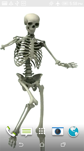 Screenshots of the Dancing skeleton for Android tablet, phone.