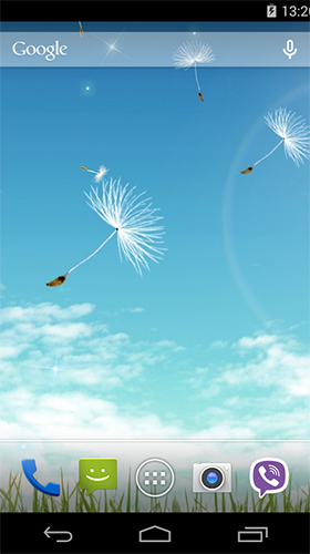 Screenshots of the Dandelion by Wallpapers Pro for Android tablet, phone.