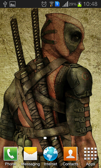 Screenshots of the Deadpool for Android tablet, phone.
