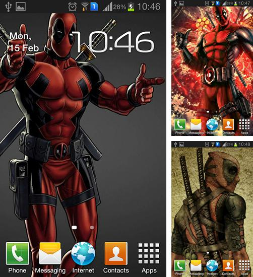 Kostenloses Android-Live Wallpaper Deadpool. Vollversion der Android-apk-App Deadpool für Tablets und Telefone.