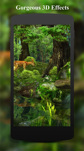 Descargar Deer And Nature 3d Para Android Gratis El Fondo De