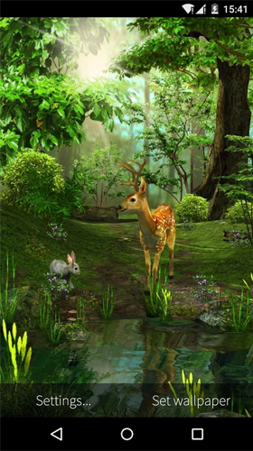 Capturas de pantalla de Deer and nature 3D para tabletas y teléfonos Android.