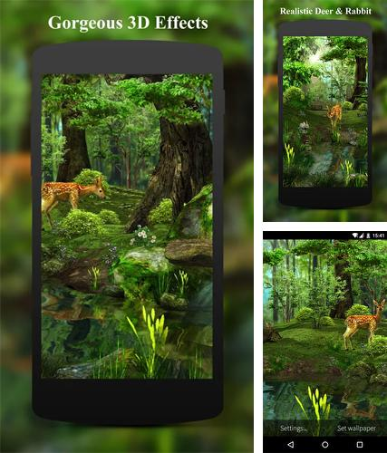 Download live wallpaper Deer and nature 3D for Android. Get full version of Android apk livewallpaper Deer and nature 3D for tablet and phone.