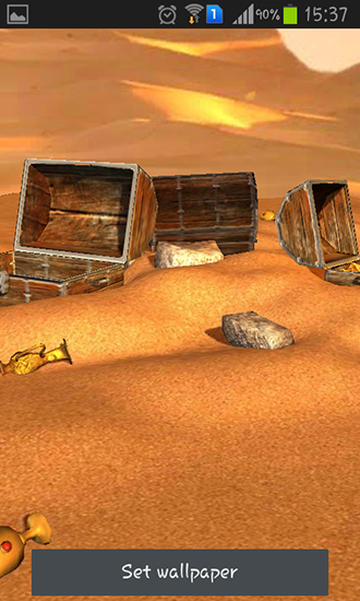 Screenshots of the Desert treasure for Android tablet, phone.