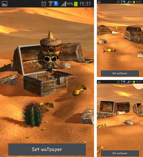 In addition to live wallpaper My name for Android phones and tablets, you can also download Desert treasure for free.